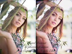 Pastel Portrait Photoshop Action. Actions. $2.00