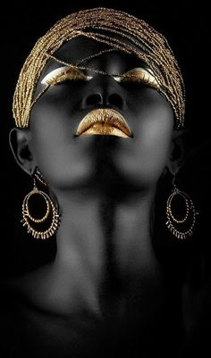 Fashion photography portrait people Ideas - New Site Black Art, Black Women Art, Black Gold, Black And White, Color Black, Art Women, African Beauty, African Art, African Women