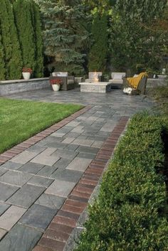 Paver Patio and Walkway with Richcliff - Photos