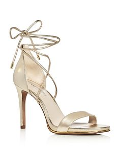 Gold stappy heel sandal Kenneth Cole