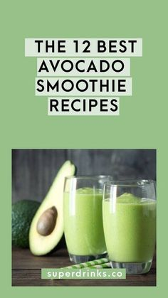 [Healthy Smoothies] The 12 Best Avocado Smoothie Recipes + 3 Stunning Avocado Benefits for Your Skin, Brain and Overall Health. Congratulations! Among the myriad of available smoothie options, you have found your way to the absolute rock star of healthy smoothies. #AvocadoSmoothieRecipes #GreenSmoothie #AvocadoSmoothie #Superdrinks #AvocadoRecipes #Avocado #HealthySmoothieRecipes #HealthySmoothies #Smoothies #SkinCareSmoothies #BrainSmoothies  #HealthyDrinks #HealthyDrinksRecipes