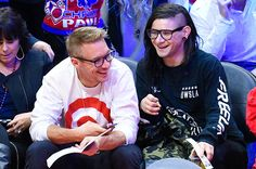 Diplo and Skrillex spent Christmas together at a basketball game!
