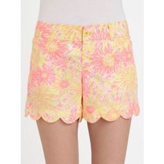 Lilly Pulitzer buttercup shorts Great condition worn once! They glow in the dark too! ❤️ Lilly Pulitzer Shorts