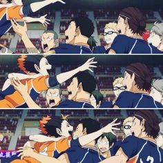 LOL THEY ARE ALL SO CUTE WELL THEIR FACES ARE FUNNY #haikyuu