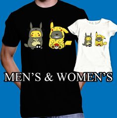 Hey, I found this really awesome Etsy listing at https://www.etsy.com/listing/241220537/pokemon-shirt-totoro-t-shirt-pikachu