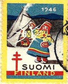 Kirjeitä myllyltäni: Joulumerkkejä ja vähän muitakin Rare Stamps, Vintage Stamps, Stamp Collecting, Finland, Reindeer, Nostalgia, Monet, Old Things, Martini