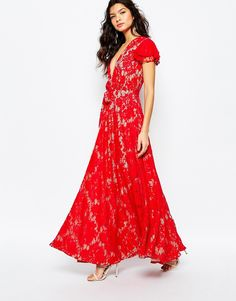 Image 1 of The Jetset Diaries Piazza Maxi Dress in Red