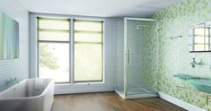 Height matters – this Merlyn Showering 1950mm high chrome hinged 8 Series door gives you the feeling of space from within. #Showers #Bathroom