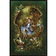 USA Alice Poster with Hardboard Frame