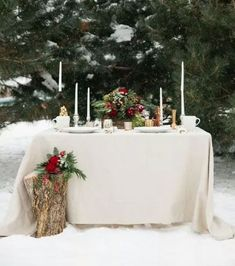 Snippets, Whispers and Ribbons – 5 Magical Winter Wedding Tablescapes Snow Wedding, Winter Wonderland Wedding, Woodland Wedding, Christmas Wedding, Snowflake Wedding, Christmas Frames, Woodland Christmas, Wedding Fun, Rustic Christmas
