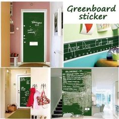 These blackboard stickers are really easy to apply on walls, refrigerators or kitchen cabinets. Just peel off the backing and apply to clean smooth surface. This blackboard are really good idea to safe space without mess. Can be used Indoors and outdoors. You can use regular chalk or chalkboard markers and wipe clean with a wet cloth. This Blackboard /Chalkboard vinyl is fun for kids and adults. These are so easy, kids love chalk and this is a great way for them to decorate and be creative…