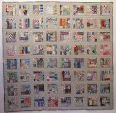 """Liberty tana lawn scrap quilt with linen/silk sashing and border. Over 300 different fabrics, 65"""" x 65"""" by Meg Cowey"""