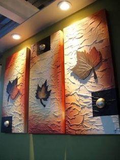 Resultado de imagem para cuadros con texturas Ceramic Wall Art, Mural Wall Art, Mural Painting, Canvas Wall Art, Paintings, Texture Art, Texture Painting, Art N Craft, Diy Art