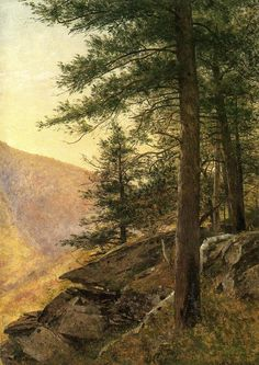 Hemlocks in the Catskills by Thomas Worthington Whittredge