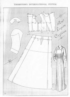 """Well known look labeled """"The New Empire Costume"""". From the mid to late #1910s #patterninlink"""