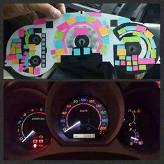 use post it notes to color your dashboard