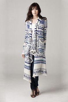 Savannah Long Cardigan Sweater in Ashen Blue
