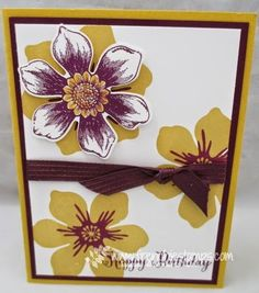 Stamp & Scrap with Frenchie: Stampin'101 Beautiful Bunch easy mont for Fun Flower punch