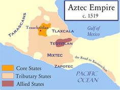 """The Aztec empire is well known today even though it vanished centuries ago. Take a look at this Aztec empire history to see what the """"empire"""" really was. Conquistador, Saint Vincent Et Les Grenadines, Aztec History, Mayan History, Aztec Empire, Fun Facts For Kids, Porto Rico, History Encyclopedia, Mesoamerican"""