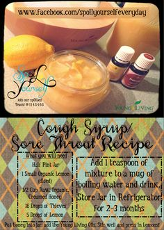 Just mixed up this spOIL Yourself Recipe! #spoilyourself  All Natural Cough & Sore Throat Syrup! ENJOY!! JOIN OUR TEAM #1145465 www.facebook.com/spoilyourselfeveryday  If you can't find the Creamed Raw Organic Honey, You may use just Raw/Organic, does not have to be Creamed.