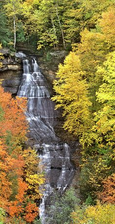 ✮ Fall Color - Chapel Falls - Upper Penninsula, Michigan