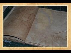 Hand bound book - Bookbinding - Encadernação artesanal -Envelhecimento de Papel - Perguntas Frequentes - Parte 2 - Estúdio Brigit