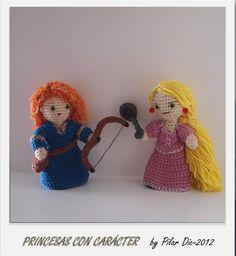 Rapunzel y Mérida #amigurumis