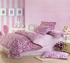new!! 100%Cotton four pieces bedding set