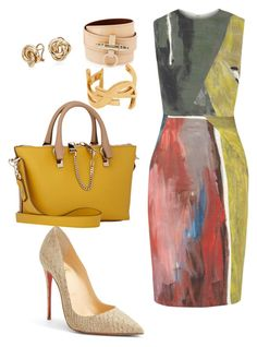 Helia's style theory by heliaamado on Polyvore featuring Cédric Charlier, Christian Louboutin, Chloé, Givenchy, Yves Saint Laurent and Blue Nile