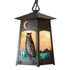 "America's Finest Lighting Company Baldwin 1 Light Outdoor Hanging Lantern Finish: Old Penny, Shade Finish: Honey, Size: 18.5"" H x 9.5"" W x 9.5"" D"