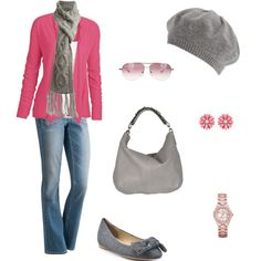 Pink and Gray Winter Day, created by archimedes16 on Polyvore