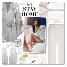"""""""Relax look"""" by mery90 ❤ liked on Polyvore featuring Morgan Lane, Agent Provocateur, La Perla, Guerlain, WALL, Skin, relax, homeoutfit and LovelyLoungewear"""