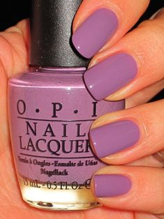 A great lavender shade of nail polish from OPI, my favorite