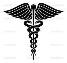 medical wings medical icon vector logo with serpent snake and rh pinterest com With Red Caduceus Vector Egyptian Caduceus Vector