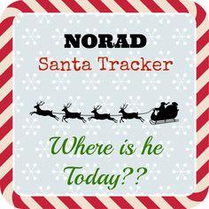 NORAD Santa Tracker ~ Where is Santa Today? FREE site to track #santa #journey #norad