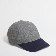 J.Crew Factory - Factory colorblock wool baseball cap for rainy days