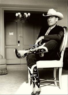 Lyle Lovett and some pretty fancy boots. Memphis TN Live at the Garden 2002 ish I think. And several more times, last one Fort Pierce Florida 2012.