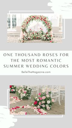 One Thousand Roses for the most Romantic Summer Wedding Colors | Fairytale Wedding Inspo with Every Shade of Pink - Belle The Magazine | wedding flowers | wedding floral installation | wedding ceremony | romantic wedding | spring wedding | summer wedding | fresh wedding inspiration Summer Wedding Cakes, Summer Wedding Colors, Spring Wedding, Summer Weddings, Romantic Wedding Decor, Floral Wedding, Wedding Flowers, Fairytale Bridal, Most Romantic