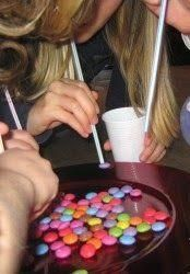 Suck up as many M&Ms with a straw as you can in 60 seconds. Blue Zone: Party games to rock your partaaay! Suck up as many M&Ms with a straw as you can in 60 seconds. Blue Zone: Party games to rock your partaaay! Party Emoji, Kids Party Games, Fun Games, Garden Party Games, Game Party, Rainbow Party Games, Teenage Party Games, M&m Game, Cheap Games