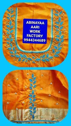 Embroidery On Kurtis, Kurti Embroidery Design, Salwar Neck Designs, Blouse Designs, Magam Work Designs, Designer Punjabi Suits, Thread Work, Wedding, Jewelry