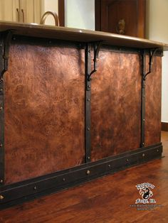 Hand Forged Copper wall by Colorado Artist Blacksmith Craig May