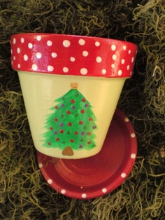 Holiday Flower Pot