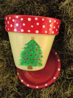 Holiday Flower Pot