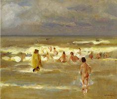 The Athenaeum - Bathing Boys (1907) (Max Liebermann - )