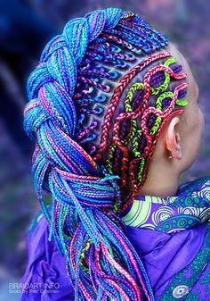 braiding by Petr Dmitriev, via Behance. Not meant as a tutorial or something I want to do, just an awesome visual of braids!