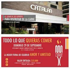 El 29 de Septiembre @tenedorlibre va a estar buenísimo, con lo mejor de la gastronomía Argentina. Compra ya tu boleta en #Catalán