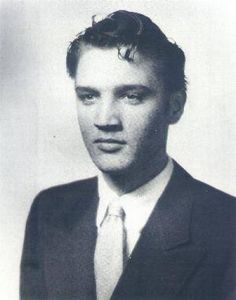 Elvis Presley 1953 senior portrait, he looks different