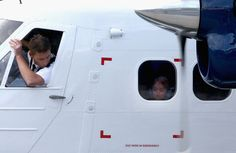 Prince George gave us once last gift of cuteness before jetting off: His adorable face smushed against the airplane window.