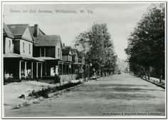 Looking West (Towards Downtown) on 2nd Avenue. Williamson, WV, 1915.
