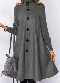 Long Sleeve Other Buttons Duffle Coats – Hijab Fashion 2020 Winter Fashion Outfits, Women's Fashion Dresses, Hijab Fashion, Fashion Coat, Mode Abaya, Mode Hijab, Kurta Designs Women, Blouse Designs, Winter Coats Women